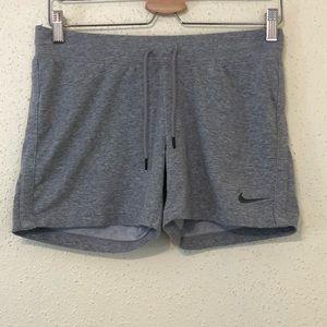 Nike Gray Drawstring Cotton Running Shorts
